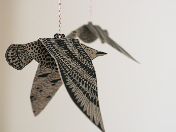 DIY Paper Seabird Mobile by Lila Ruby King