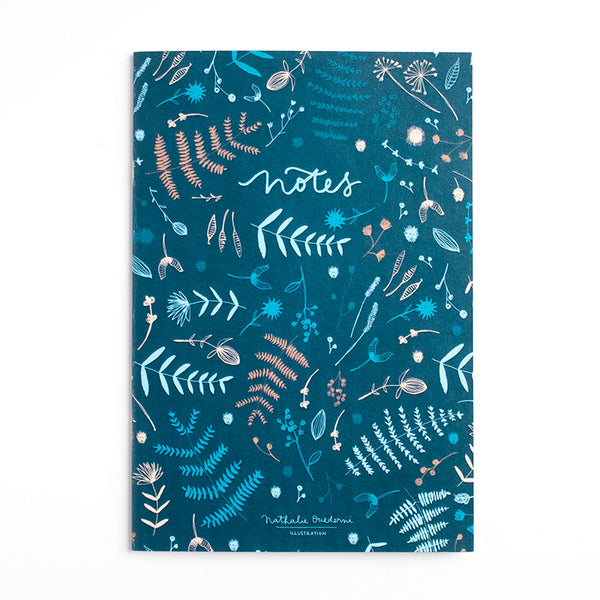"Nathalie Ouederni A6 Notebook ""Winter Leaves"""