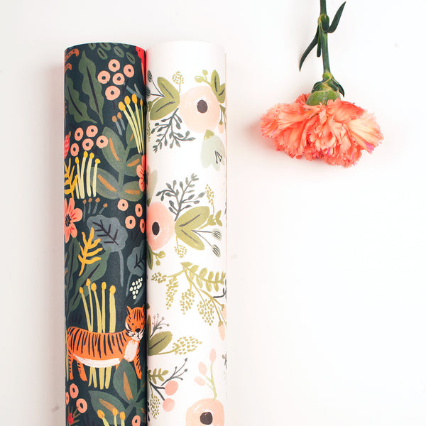 "Rifle Paper Co. ""Jungle"" & ""Wild Flowers"" Wrapping Paper"