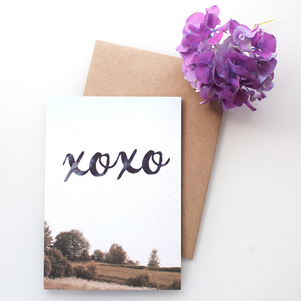 "Kort&Gott Greeting Card + Envelope ""XoXo"""