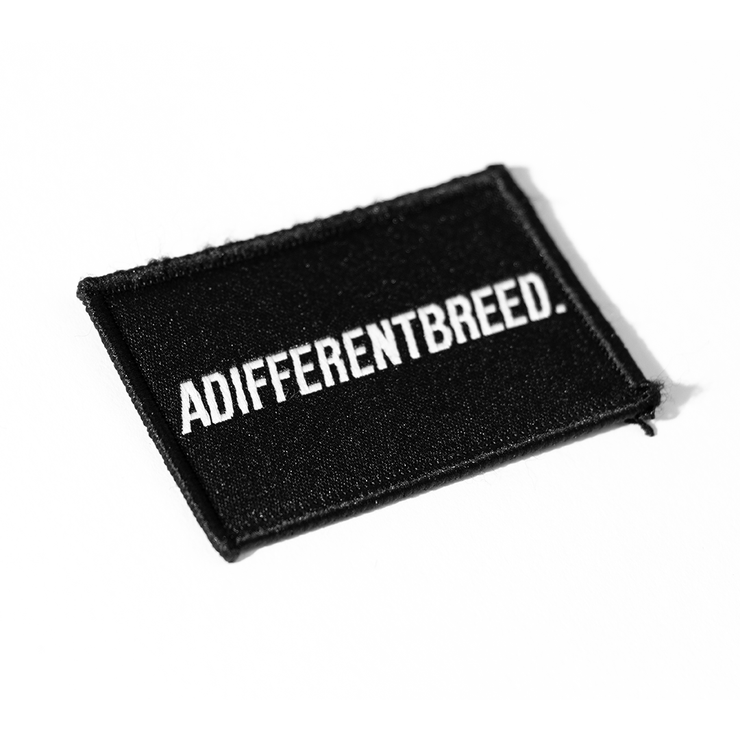 ADIFFERENTBREED Morale Patch - Black/White