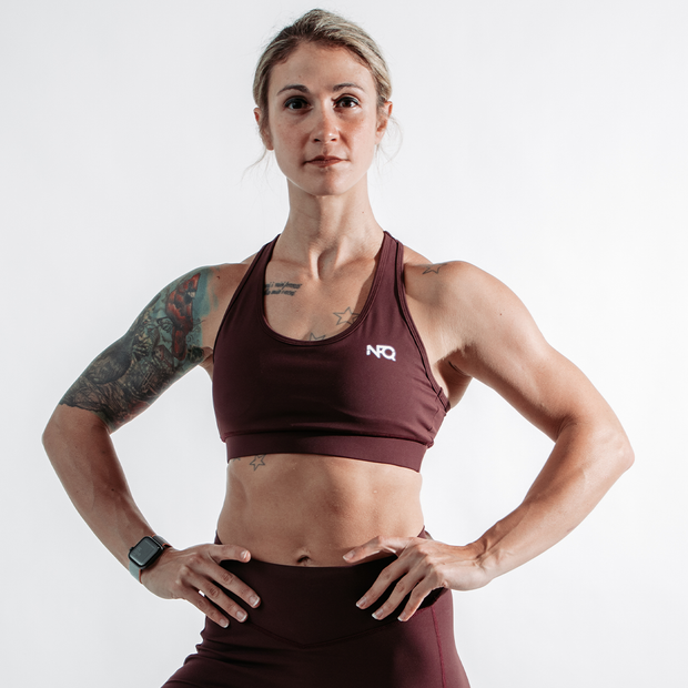 Essence Sports Bra - Cranberry