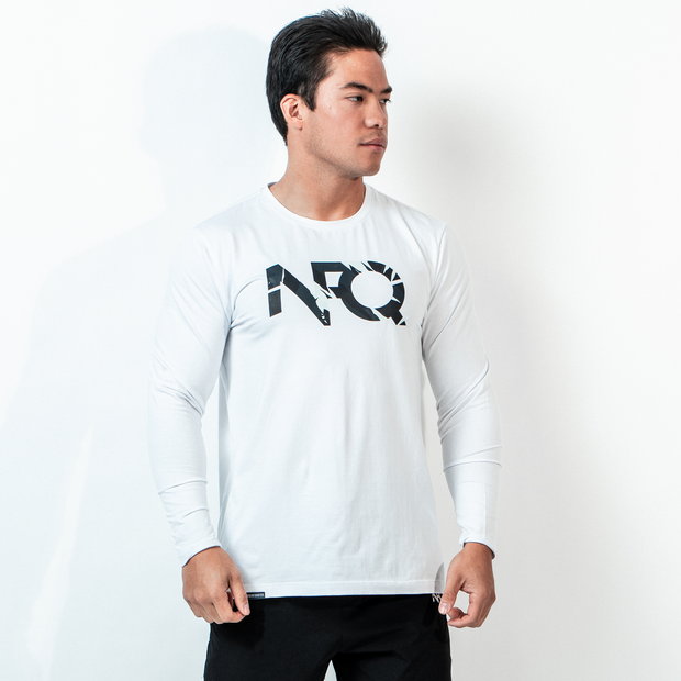 Modern Logo - White/Tigertac Long Sleeve