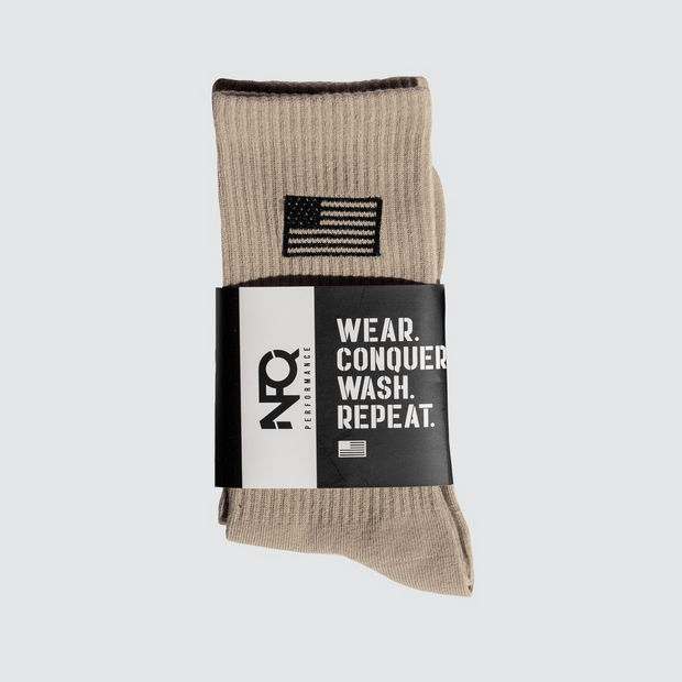 Tan/Black NFQ/Flag Utility Socks (Pair)