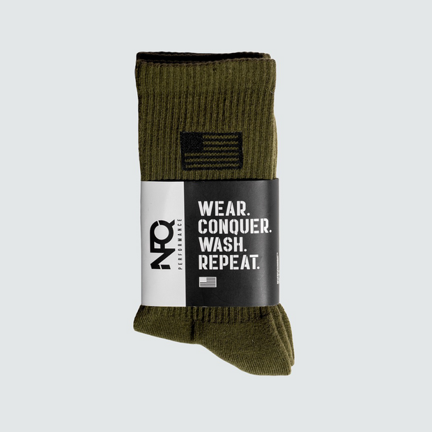 OD Green/Black NFQ/Flag Utility Socks (Pair)