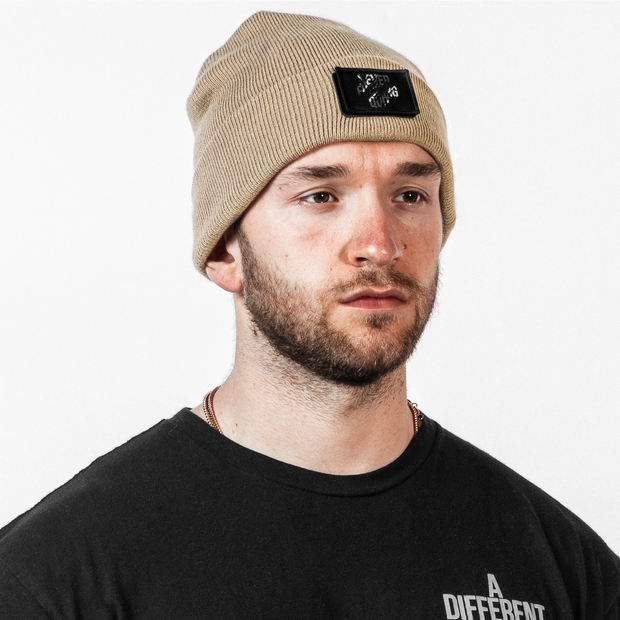 Patch Beanie - Tan