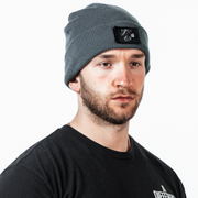 Patch Beanie - Dark Sage