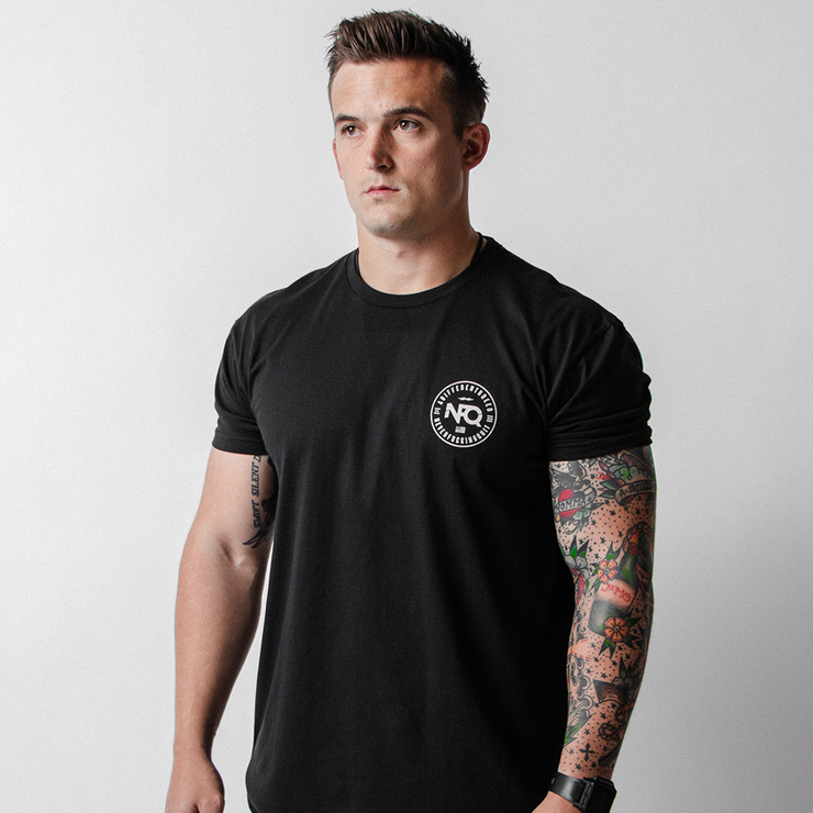 White/Ice Blue NEVERFUCKINGQUIT Shaker Bottle