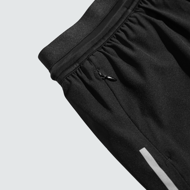Women's Black Run-Knit Training Shorts™