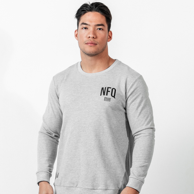 Classic Crewneck - Heather Grey/Black (PRE-ORDER)