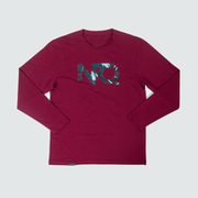 Modern Logo - Maroon/Tigertac Long Sleeve