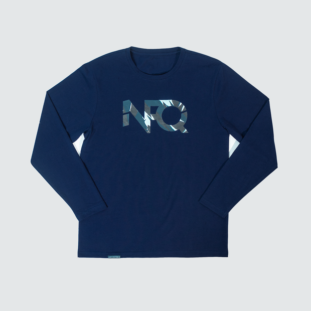 Modern Logo - Navy/Tigertac Long Sleeve