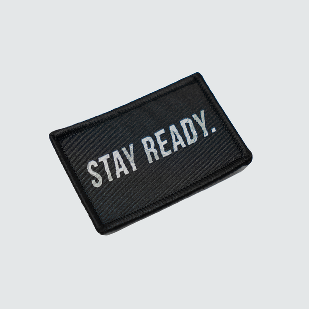 Stay Ready Patch - Black/Arctic Tigertac