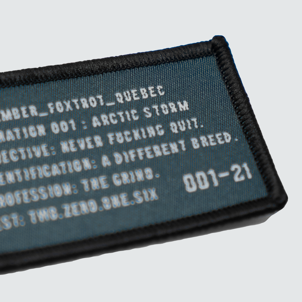 Operation Badge Patch - Slate Blue/Grey
