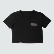 Women's Operation Badge Crop Top - Black/White