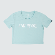 Women's Stay Ready Crop Top - Polar Blue/Arctic Tigertac