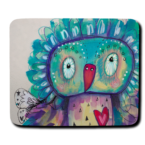 Quirky Bird Mouse Pad