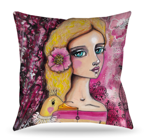 Girl Golden Goose Pillow