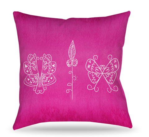 Pink Icons Pillow