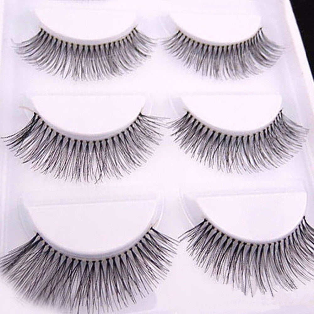 10 Pieces/1 set Natural Sparse Cross Eye Lashes Extension Makeup ...