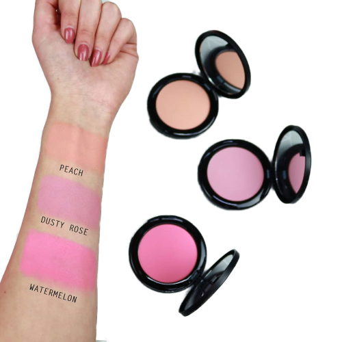 Blush compatto Nouveau Cosmetics swatches