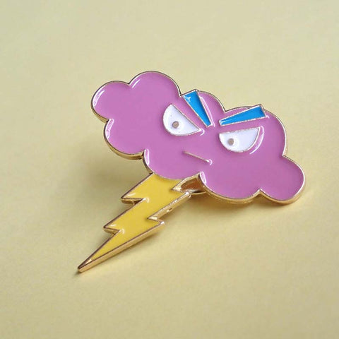 Moody Clouds - Hangry Cloud Soft Enamel Pin