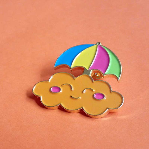 Moody Clouds - Happy Cloud Soft Enamel Pin
