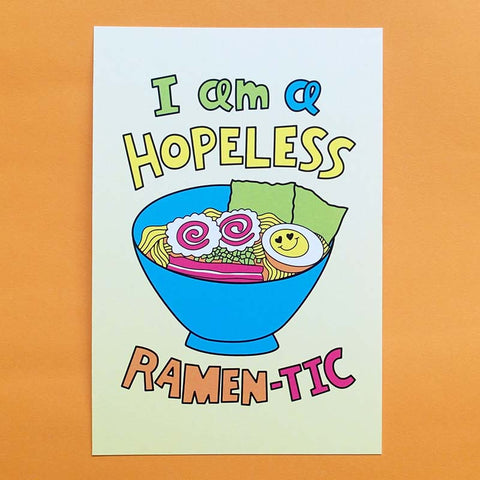 Hopeless Ramen-tic Postcard