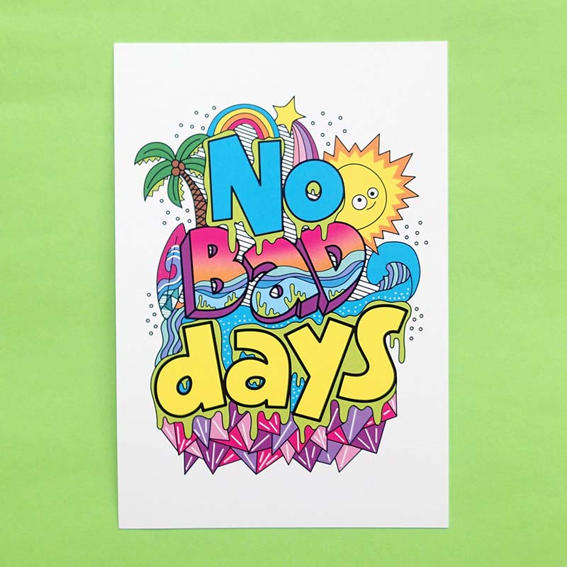 No Bad Days Postcard