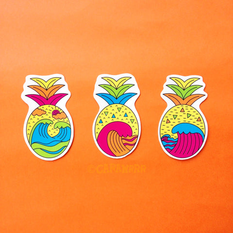 Pineapple Wave Sticker Pack