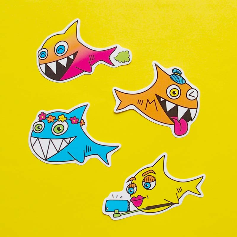 Sharks Are Friends Sticker Pack