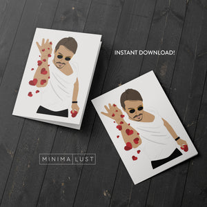 Salt Bae Printable Valentine's Day Card