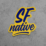 SF Native Blue & Yellow Die Cut Sticker