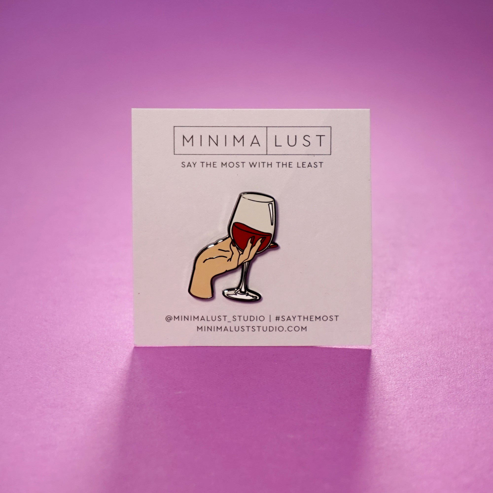 Fine Wine Enamel Pin