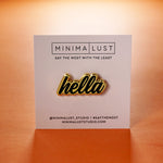 Hella Black & Gold Enamel Pin