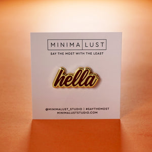 Hella Red & Gold Enamel Pin