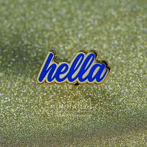 Hella Blue & Gold Enamel Pin