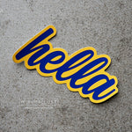 Hella Blue & Yellow Die Cut Sticker