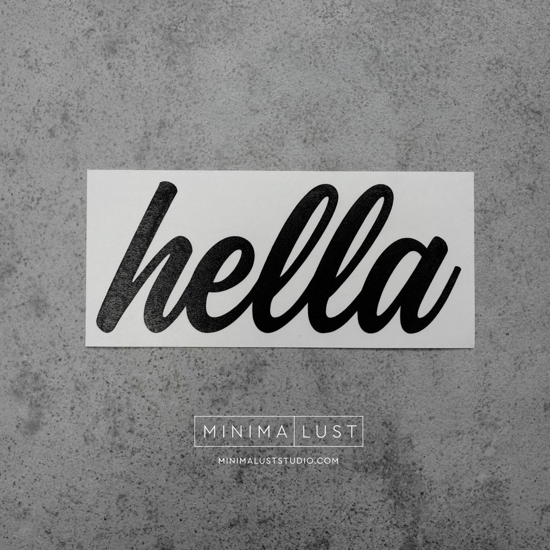 Hella Black Vinyl Decal