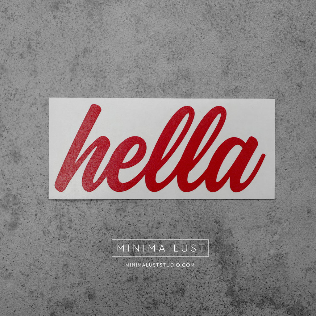 Hella Red Vinyl Decal