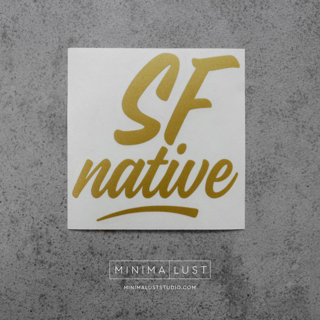 SF Native Gold Vinyl Decal