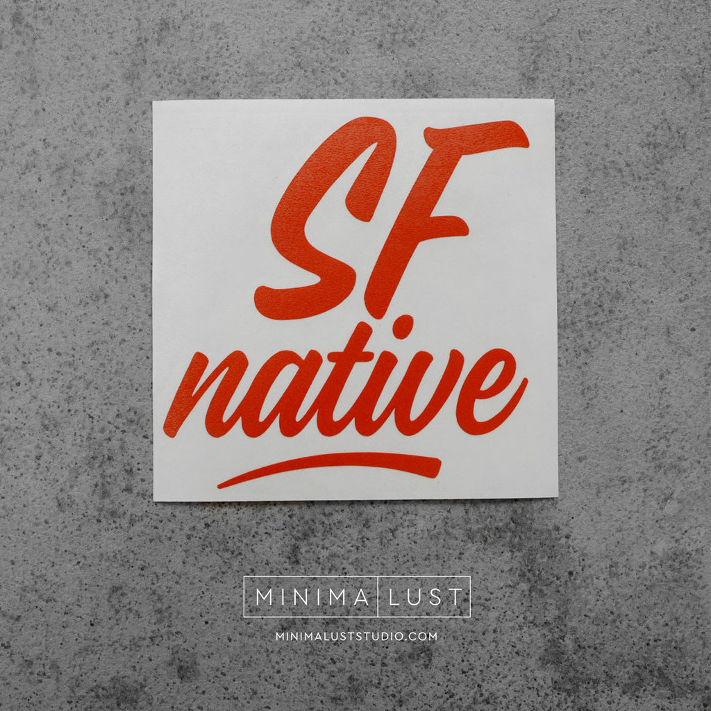 SF Native Orange Vinyl Decal