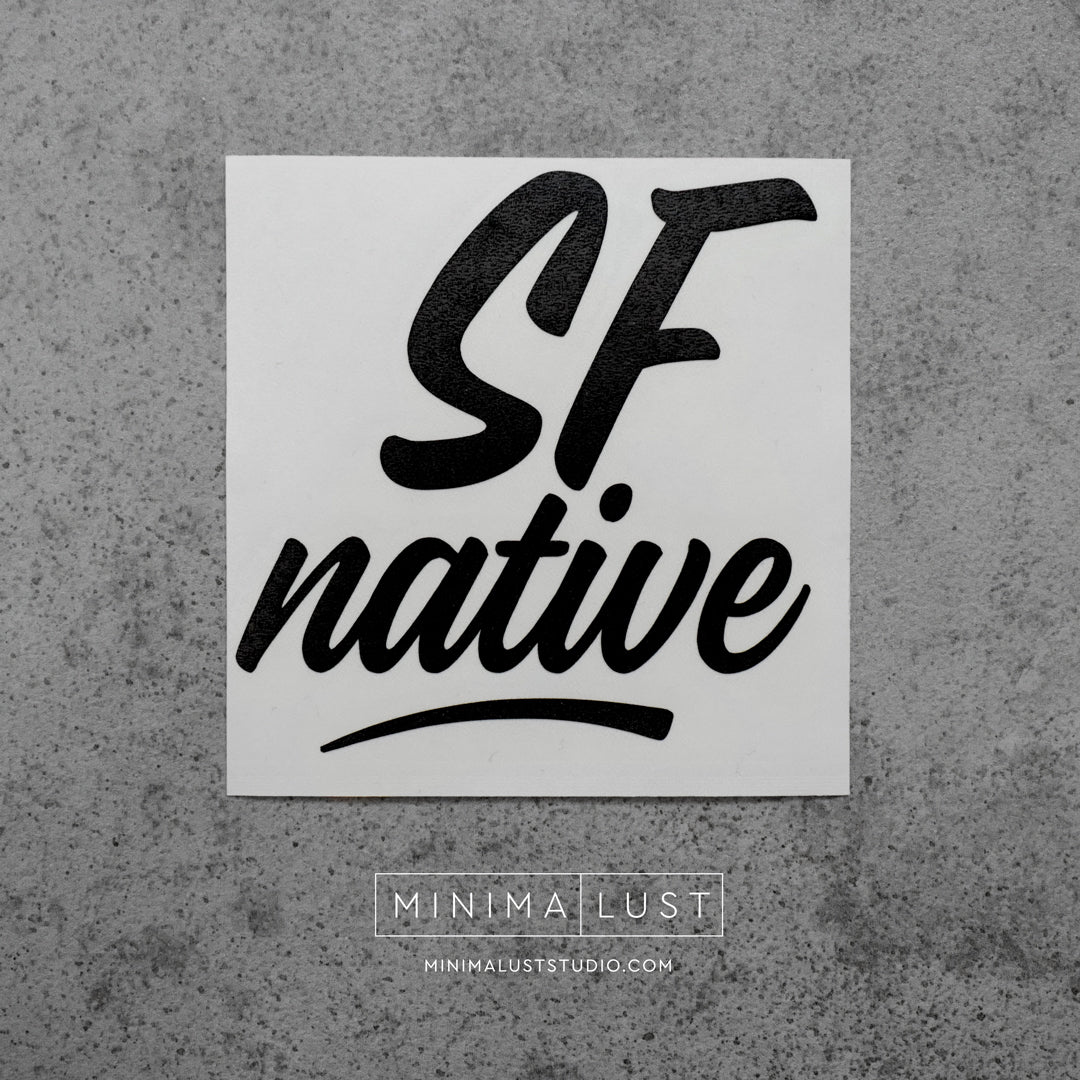 SF Native Black Vinyl Decal