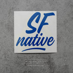 SF Native Blue Vinyl Decal