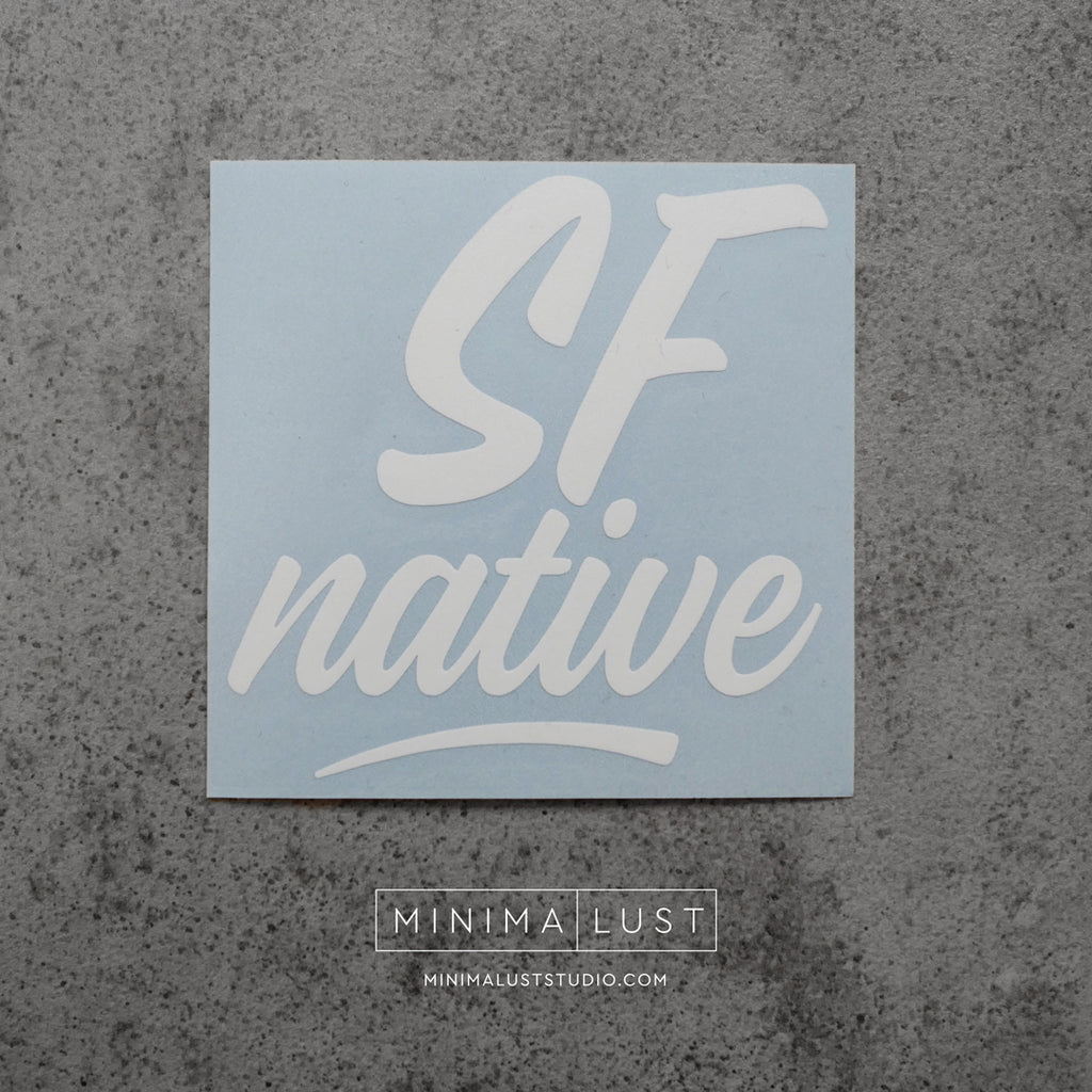 SF Native White Vinyl Decal