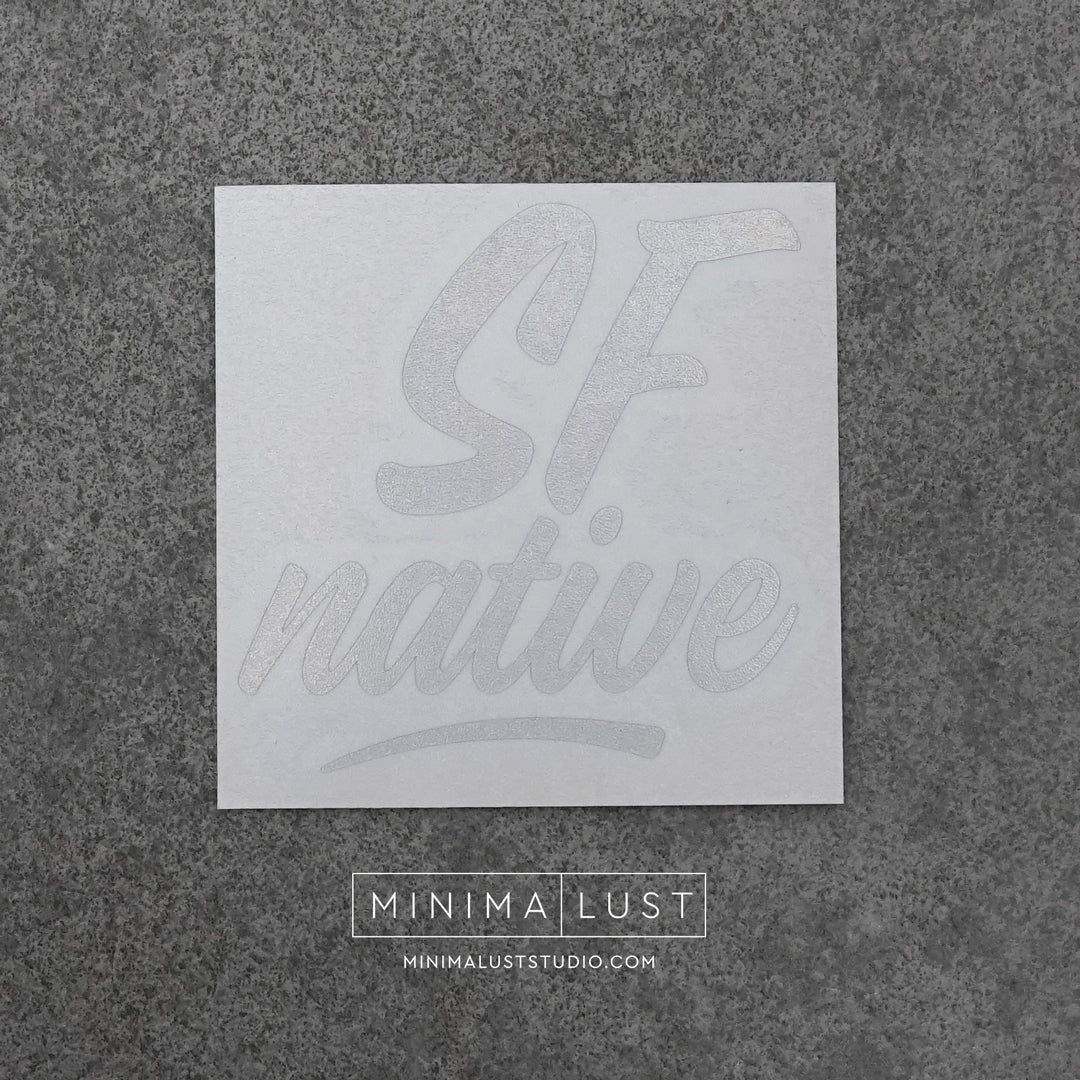 SF Native Silver Hologram Vinyl Decal