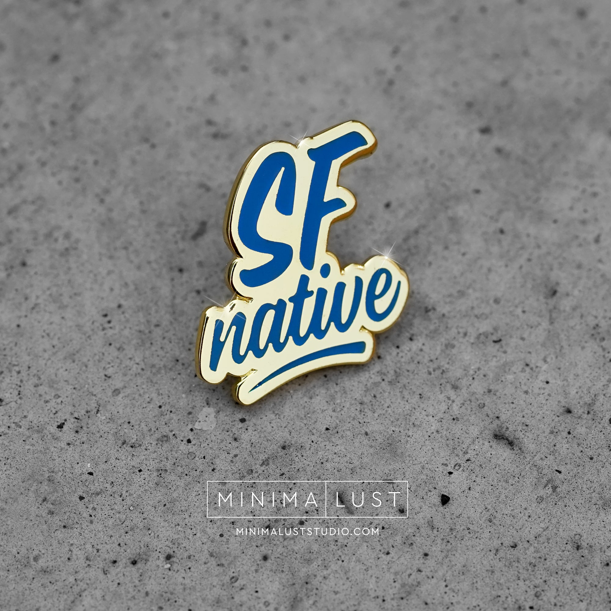 SF Native Blue & Gold Enamel Lapel Pin