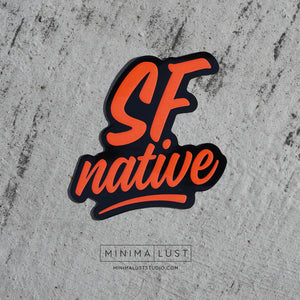 SF Native Black & Orange Die Cut Sticker