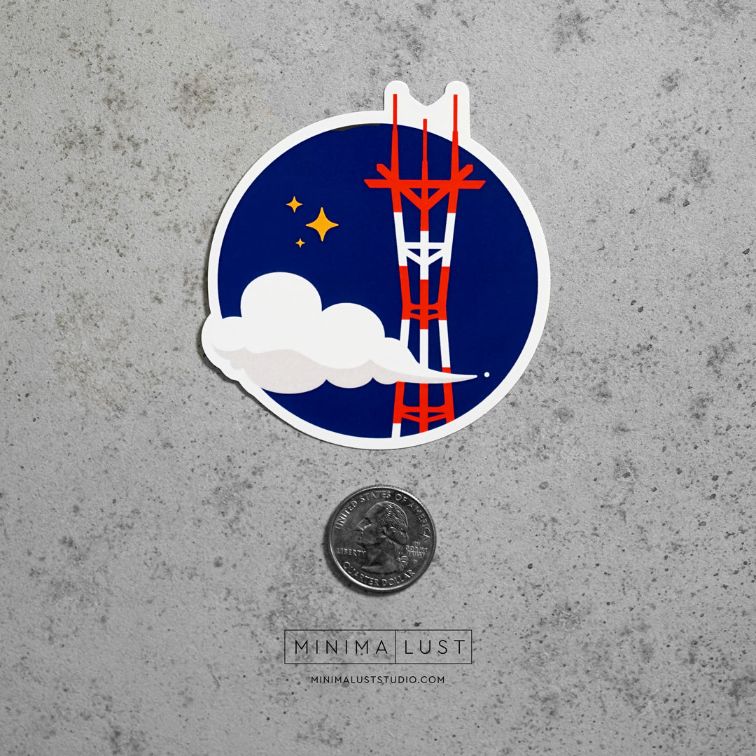 Sutro Die Cut Sticker