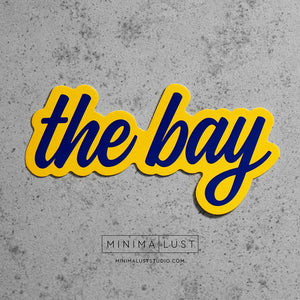The Bay Blue & Yellow Die Cut Sticker